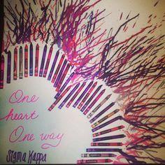 Sigma Kappa Crayon Art :)