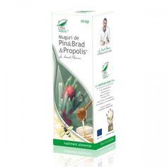 Sirop Muguri de Pin & Brad & Propolis 100 ml - ✅ProBio. Propolis, Personal Care, Health, Therapy, Microbiology, Varicose Veins, Syrup, Plant, Self Care