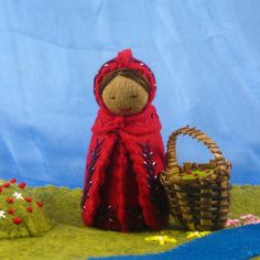 Red Riding Hood Wool Felt Doll - Waldorf inspired