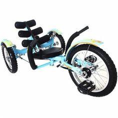 "Triton Mobo Mobito 16"" Three-Wheeled Kid's Cruiser Blue"