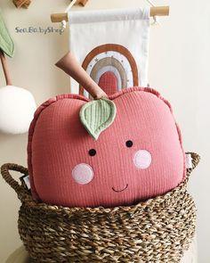 Crib Pillows, Kids Pillows, Baby Bedding, Cushions, Fruits For Kids, Kids Fruit, Baby Decor, Nursery Decor, Room Decor