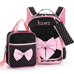 Beautiful Pink Bow School Bag Set – uShopnow store