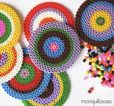 Posavasos con hamma beads - mariquillasaez.