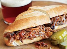 Pulled Pork With Spicy Peach-Mustard Sauce.good idea for useing store bought peach jam Canning Recipes, Pork Recipes, Crockpot Recipes, Lemon Recipes, Pork Ham, Pork Roast, Pork Shoulder Roast, Peach Jam, Canned Peaches
