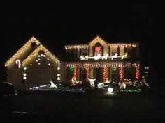 "Christmas lights video played along to ""Sleigh Ride"".  Cute!  : )"