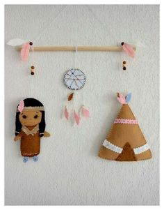 Your place to buy and sell all things handmade Felt Garland, Felt Ornaments, Native American Nursery, Handmade Crafts, Diy And Crafts, Felt Christmas, Christmas Ornaments, Indian Crafts, Felt Decorations