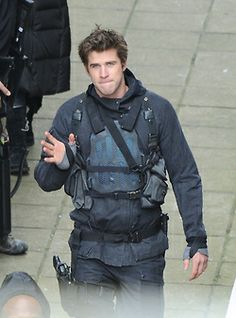 Liam set of Mockingjay!!!!!!Im so happy with all the set photos coming in whither it be behind the scenes or not!!Thanks Liam for allowing us to get this picture of you!