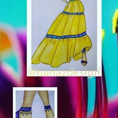 Azzi (@ounazdesign) • Instagram photos and videos Donald Cobain, Yellow Dress, Boho Dress, Photo And Video, Purple, Videos, Skirts, Photos, Fashion Design