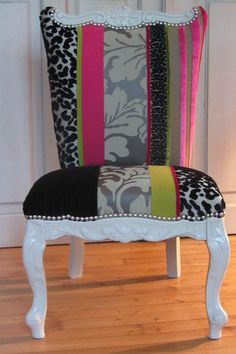 fauteuil_en_patchwork___vendre_tapissier___Brest Funky Furniture, Chair Makeover, Contemporary Lounge, Chair Upholstery, Upholstered Furniture, Home Decor, Decorative Chair, Furniture Makeover, Interior Design Furniture