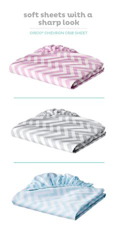 Add a trendy touch to Baby's nursery with the Circo chevron-print crib sheet.
