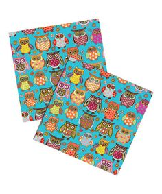 Owlie Six-Sheet Gift Wrap Set #zulily #zulilyfinds