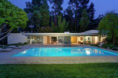 The Loring House by Richard Neutra is another perfect example of a modernist home. The house is currently on the market in Los Angeles California.