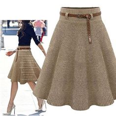 This beautiful a line skirt is so stylish and you will love how it looks on you! It comes in three very popular colors. You can choose from the black, khaki or the gray skirt. You will find that any o