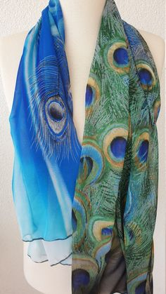 Peacock Print, Feather Print, Peacock Feathers, Feather Scarf, Beach Wrap, Purple Scarves, Bathing Suit Covers, Bikini Cover Up, Oversized Scarf