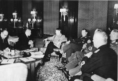 "Hácha, Hitler and Göring meeting in Berlin, 14/15 March 1939.  ""Bundesarchiv B 145 Bild-F051623-0206, Berlin, Besuch Emil Hacha, Gespräch mit Hitler"" by Unknown - This image was provided to Wikimedia Commons by the German Federal Archive (Deutsches Bundesarchiv) as part of a cooperation project;  licensed under Creative Commons Attribution-Share Alike 3.0-de via Wikimedia Commons"