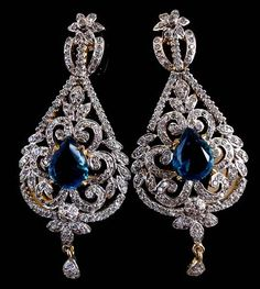 Blue And Off White Stone Studded Fashion Earring 123 78 Stani Jewelry