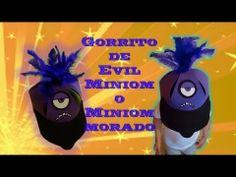 Gorrito Evil Miniom o Miniom Morado