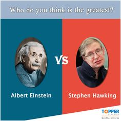 Who do you think is the greatest? #Einstein vs #Hawking | #Science
