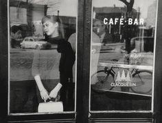 Edouard Boubat, Waiting for a date at the Café Vache Noir, Paris, 1957