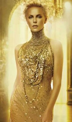 Dior gold dress