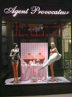 Agent Provocateur Las Vegas cupcake window display by Rachel from Cupcakes Take the Cake, via Flickr