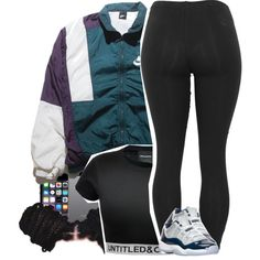 6-22-15 by purplecookiedimples on Polyvore featuring NIKE