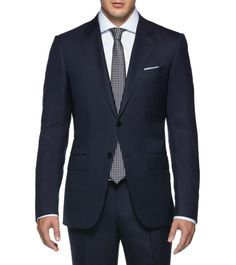 ERMENEGILDO ZEGNA:SuitCool wool Button, zip 2 buttons High reBlue49136513EN