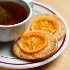 five-spice cookies with candied oranges