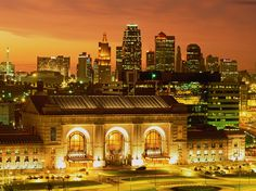 Built as a railroad station in 1914, Kansas City's Union Station is now a city landmark and an entertainment and cultural center.  [Photo by Lloyd Sutton, Masterfile]