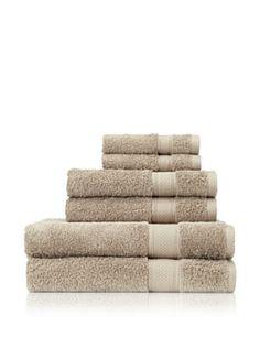 Terrisol 6-Piece Egyptian Cotton Bath Towel Set (Khaki)