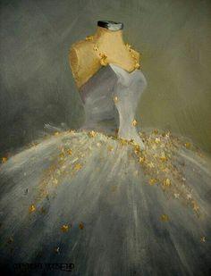 RESERVED for S ballet Tutu painting The Dance of the Moon original canvas still… Ballet Art, Ballet Girls, Long Tutu, Dance Crafts, Dance Paintings, Fairy Dress, Tulle Tutu, Ballet Costumes, Dance Art