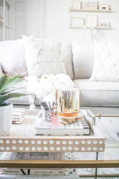 Neutral Living Room | Blush and Cream Living Room | New York City apartment | Small apartment decor ideas | Home Decor #homedecorapartment