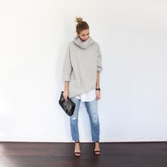 I need this oversized sweater. Not want. Need. | BAGGY LAYERS – Connected to Fashion