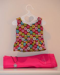 American Girl Doll Clothing. Skinny Jeans and Fitted Peplum Top by Simply18Inches