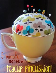 So easy and so sweet. Start searching thrift stores for tea cups!! From punk projects: The Spotted Fox Guest Blog