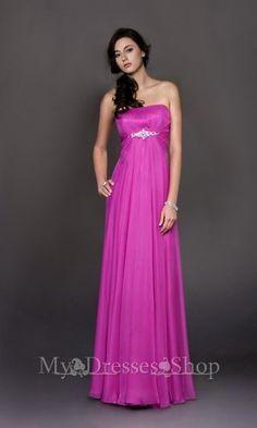Puple Strapless Plicated Long Formal Dress 2013 152,23$