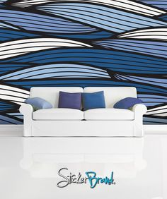 Wall Mural Decal Sticker Bristle Ocean Blue Color MCrespo123