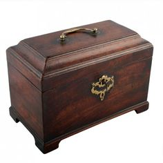 Chippendale Mahogany Tea Caddy