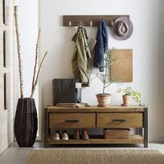 Coffee table turned entry bench/shoe rack. Innovative and clever  #inspiration #design #creative #ideas #loveit #newhome #forthehome #interiordesign #homestaging #hallway #livingroom #shoes #homedecor #rustic #repurpose #organize #declutter #hgtv #bhg #diy #realtor #realestate #follow #realestateagent #professionalorganizer #coffee #coffeetable #lisaboncich #longisland #ny
