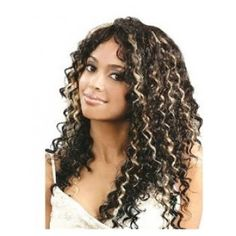free shipping Elegant Human Hair Curly mix with Highlight Full Lace