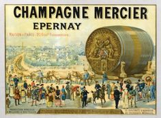 champagne Mercier - Epernay - France - Champagne, France, Vacation Destinations, Vintage World Maps, Places To Visit, 50th Birthday, Movie Posters, Paris Home, French Posters