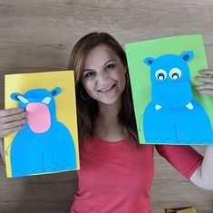 Hippo Crafts, Zoo Crafts, Easy Crafts, Crafts For Kids, Arts And Crafts, Paper Crafts, Letter Of The Week, Paper Magic, Sunday School Crafts