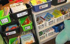 Kindergarten-library- idea and freebie