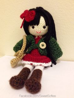This pattern will show you how to create an adorable female doll that is dressed and ready for the Autumn season! She loves romping in Fall leaves with