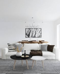 3D stripe love living room - via cocolapinedesign.com