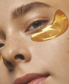 Lindsey Williams on Behance Beauty Skin, Beauty Makeup, Gold Eye Mask, Peach Makeup, Best Masks, Younger Looking Skin, Facial Treatment, Facial Masks, Glowing Skin