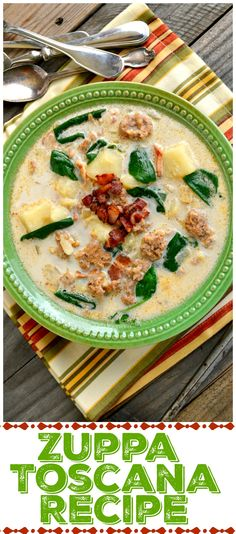 Copycat Zuppa Toscana. Yes, the famous soup from Olive Garden only maybe even more delicious. It's got lots more sausage and bacon than the one at the restaurant. This soup is quick and super easy to make at home. Prepped and ready in 30 minutes, No driving, parking, waiting for a table or paying the check!