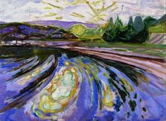 Waves against the Shore - Edvard Munch 1911-12 Munch Museum, Oslo