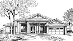 Contemporary-Modern House Plan with 2271 Square Feet and 4 Bedrooms(s) from Dream Home Source | House Plan Code DHSW18435