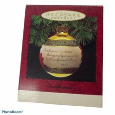 Vintage Hallmark Keepsake Christmas Ornament Grandparents 1993 Poinsettia The Christmas traditions of loving and giving are kept by grandparents are year Glass Ball Gold with Red Poinsettia Made in USA Measurements: Height: 3 in / 8 cm CONDITION: Pre-Owned Box and Ornament are in MINT condtiton I list on multiple platforms here today gone tomorrow Same day or next day shipping in most cases Hallmark Christmas Ornaments, Christmas Traditions, Hallmark Homes, Gone Tomorrow, Vintage Christmas, Christmas Stuff, Cute Packaging, Glass Ball, Poinsettia
